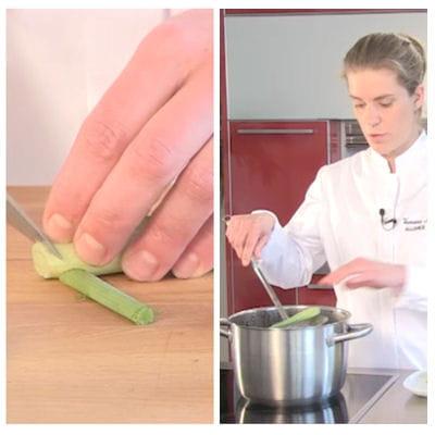 préparer les mini-légumes