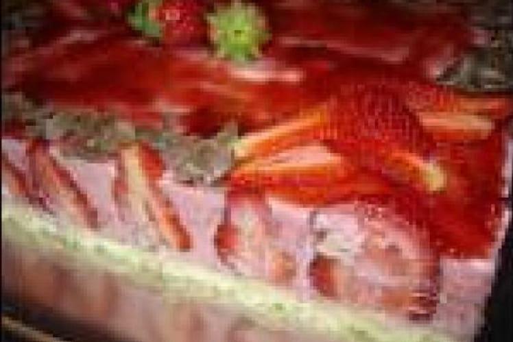 Fraisier à la mousse de fraises