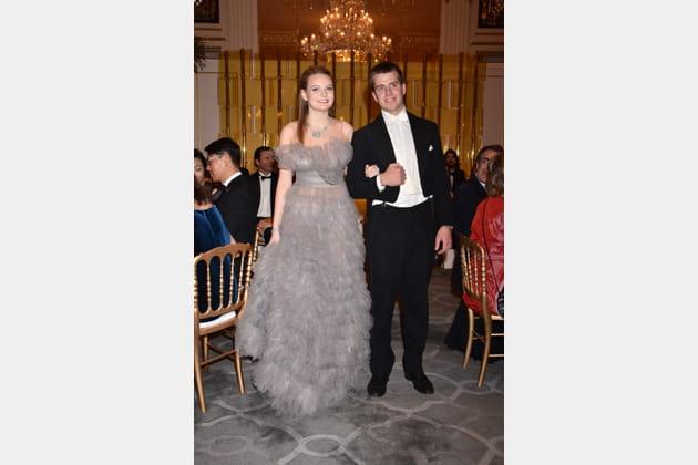 Alexina Fontes Williams et son cavalier Don Emanuele dei duchi Torlonia