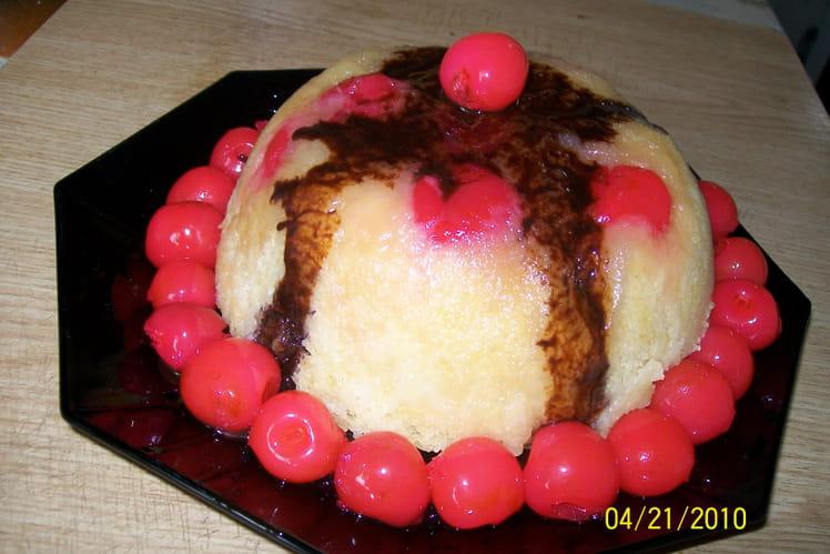 Gâteau de Savoie aux griottes au micro-ondes
