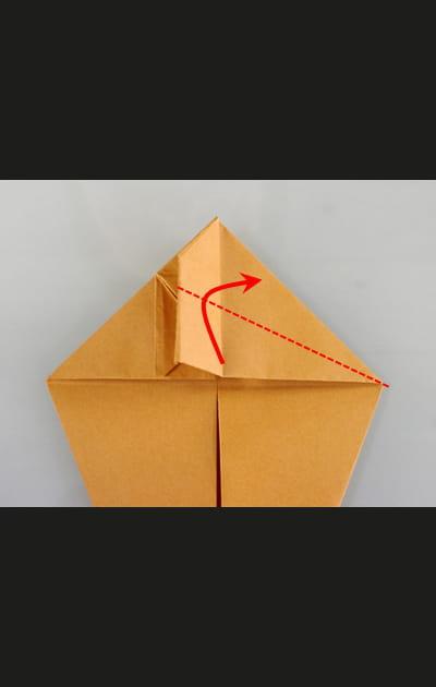 Origami chat - Etape 13