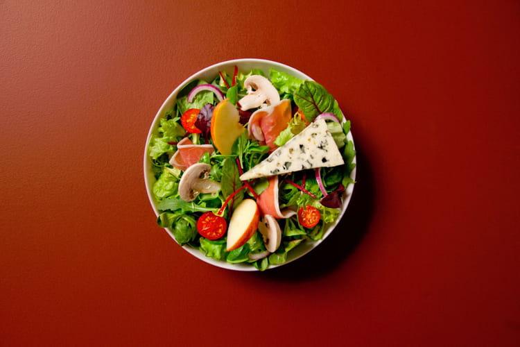 Salade du combalou au roquefort