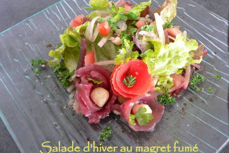 Salade d'hiver au magret fumé