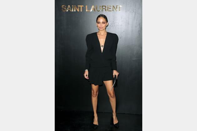 Nicole Richie au défilé Saint Laurent