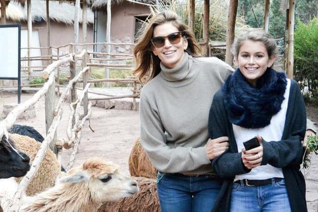 Cindy Crawford et sa fille Kaia