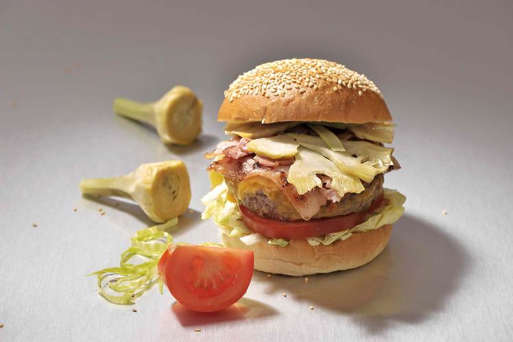 Burger collection été : artichaut petit violet, tomates, iceberg