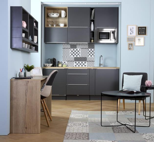 cuisine compact trendy de socoo 39 c. Black Bedroom Furniture Sets. Home Design Ideas