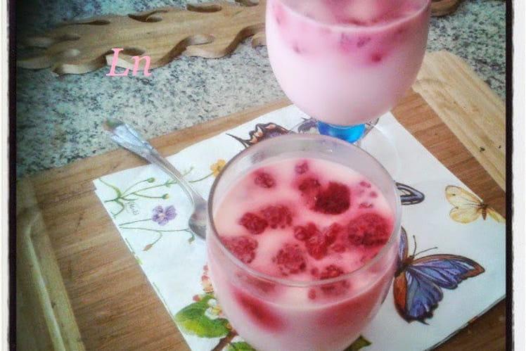 Panna cotta jelly fraise et framboises