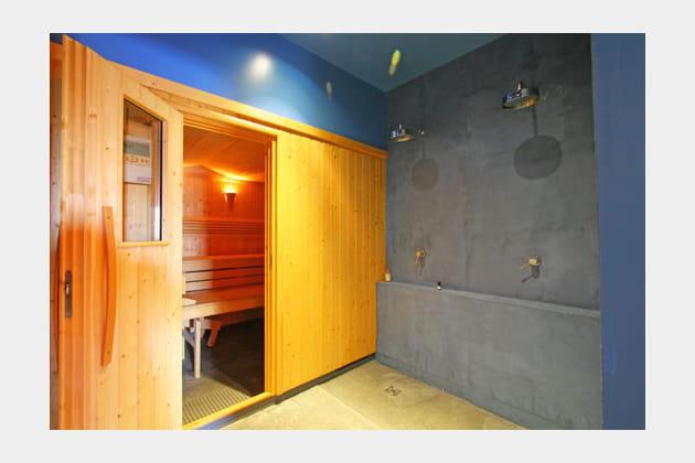 Sauna bleuté