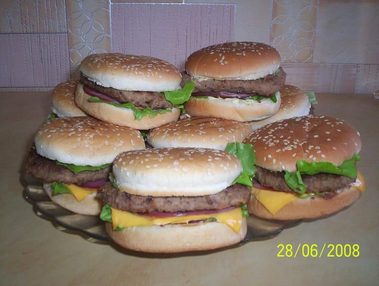 Hamburger fait maison - Recette hamburger maison ...