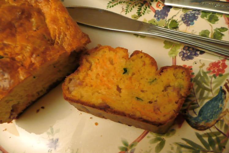Cake carottes-lardons