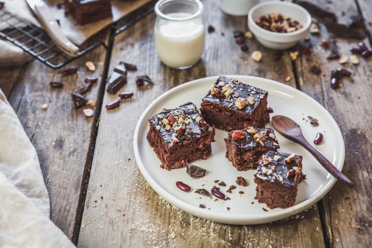Brownie au chocolat et haricots rouges