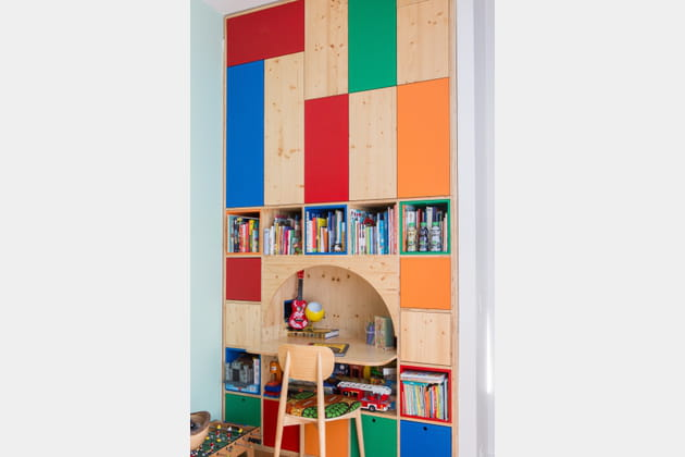 Un meuble-bureau à cubes
