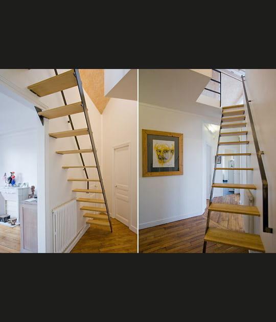 Création d'un escalier pour accéder à l'étage