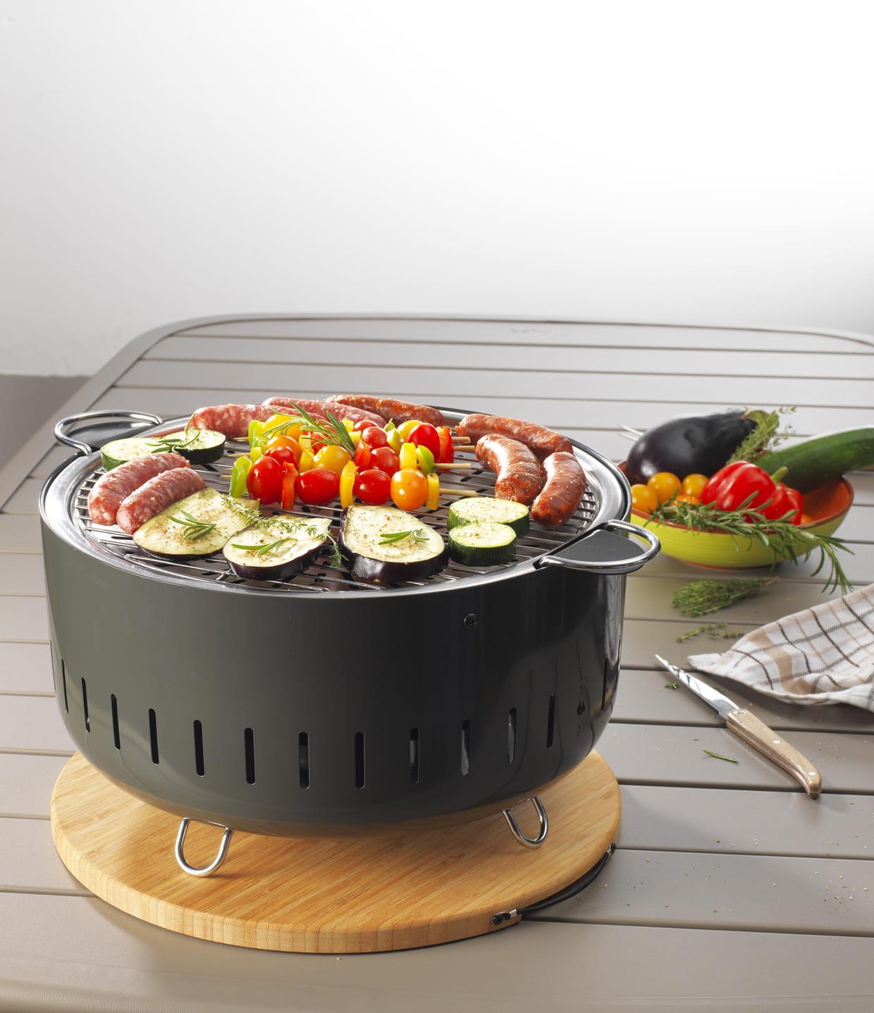 Barbecue de table charbon de bois par carrefour - Table jardin barbecue creteil ...