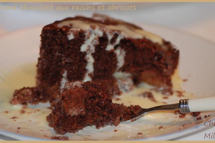 Gourmand chocolaté au raisins et abricots