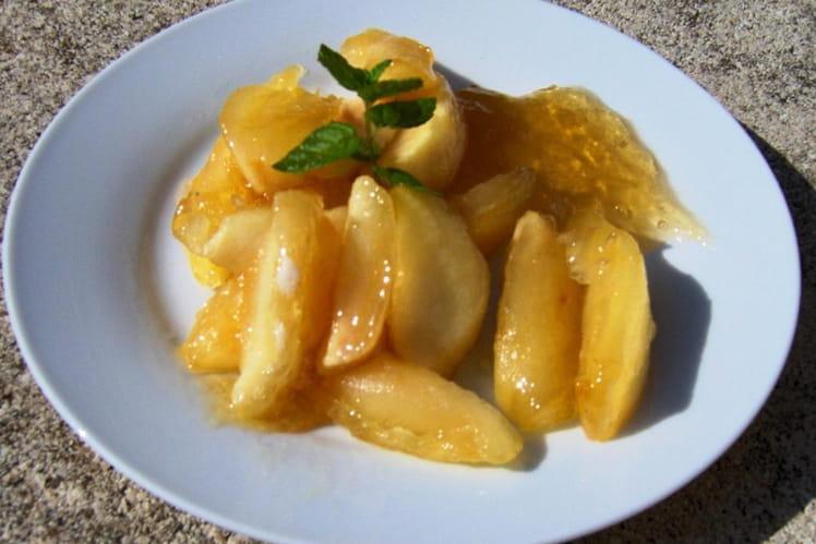 Pommes confites au miel