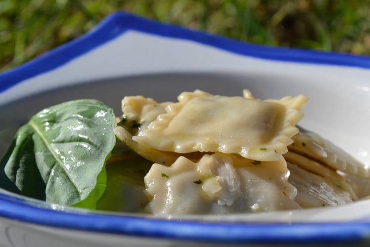 Raviolis saumon ricotta & basilic