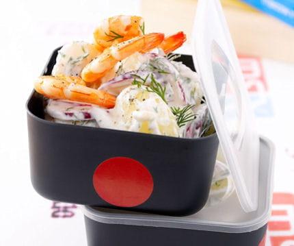 salade de pommes de terre nouvelles l 39 aneth et aux crevettes. Black Bedroom Furniture Sets. Home Design Ideas