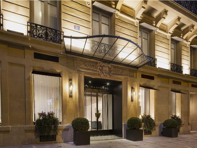 Le Marianne, un hôtel de luxe dans un immeuble haussmannien réhabilité