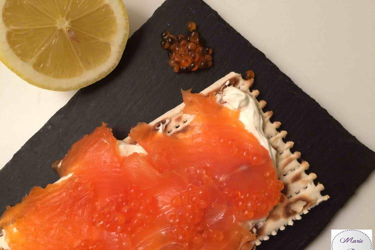 Tartines suédoises au saumon