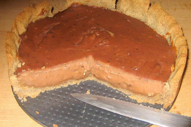 Flan chocolat-châtaigne