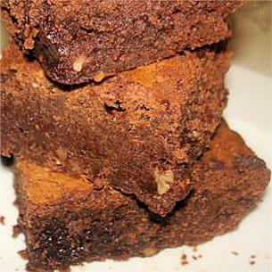 brownies aux noix de pécan.