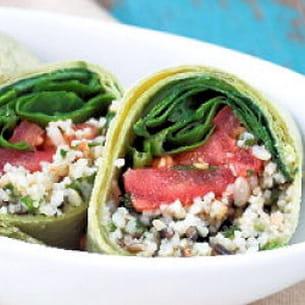 wrap végétal au quinoa