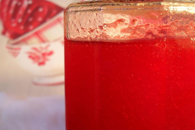 Gelée de Prunes rouge et Grenadine