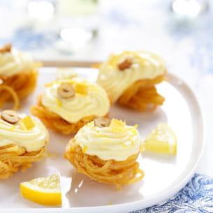 nids de linguine croustillantes à la crème de citron d'edda onorato