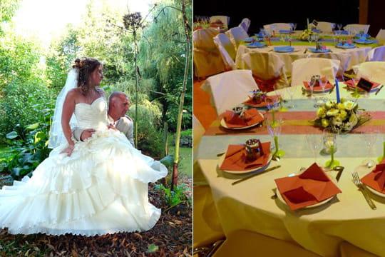 Un mariage champêtre et coloré