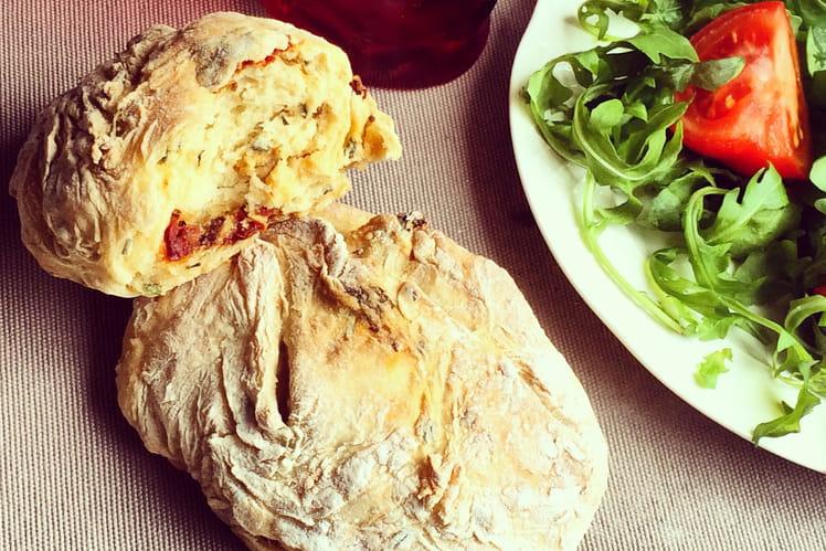 Petits pains tomate ciboulette
