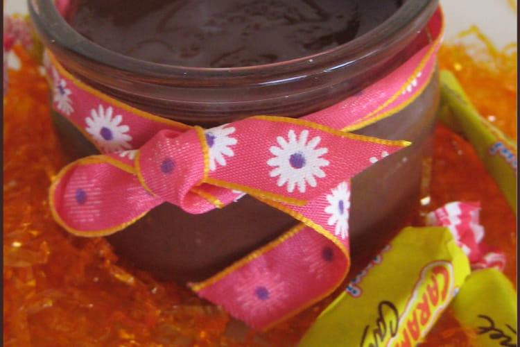 Petits pots chocolat Carambar