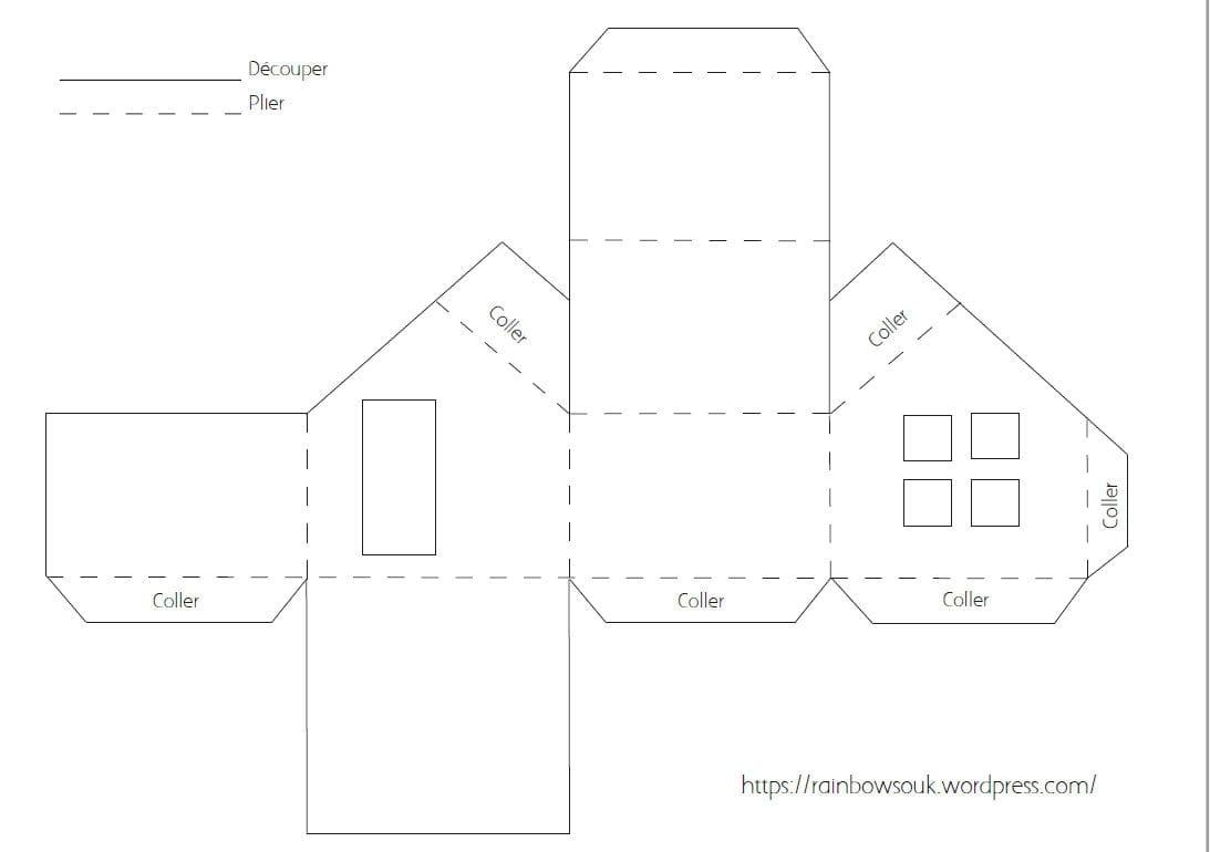 Calendrier De L Avent à Fabriquer Des Maisonnettes En Papier