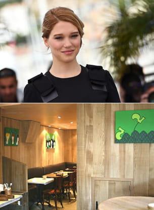 le joli décor en bois du breizh café a séduit l'actrice léa seydoux.