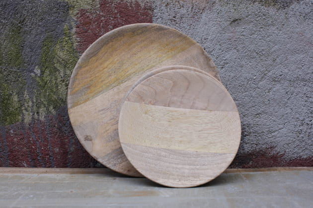 De la vaisselle en bois