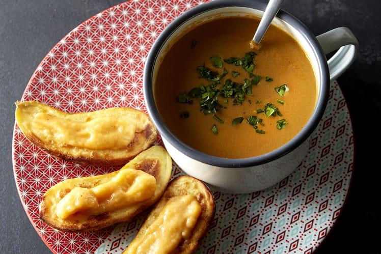 Recette de soupe de poisson fa on bouillabaisse ratte du touquet la rouille la recette facile - Cuisiner la ratte du touquet ...