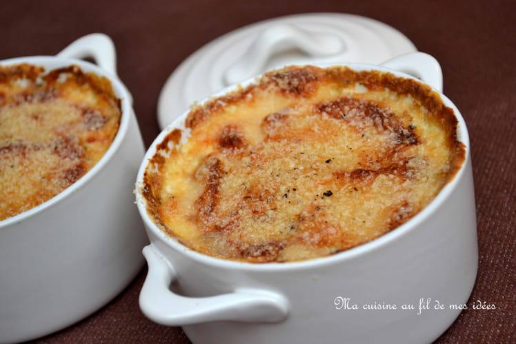 Petits gratins de pomme de terre au parmesan