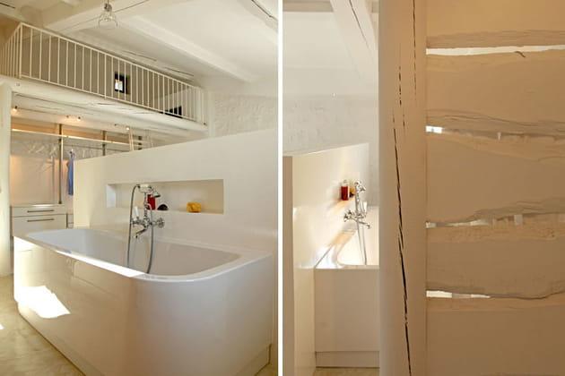 Mezzanine et salle de bains