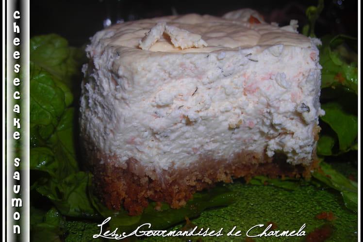 Cheesecake au saumon et aneth