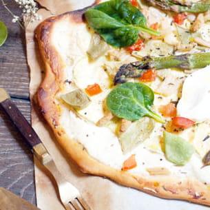 pizza verde aux légumes