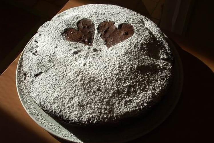 Gâteau au chocolat et sucre vanillé