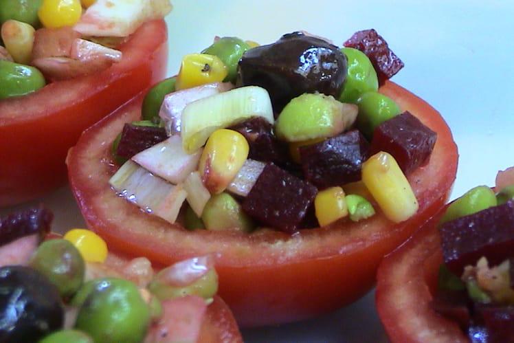Tomates farcies aux petits légumes