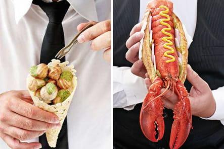 Cornet et hotdog