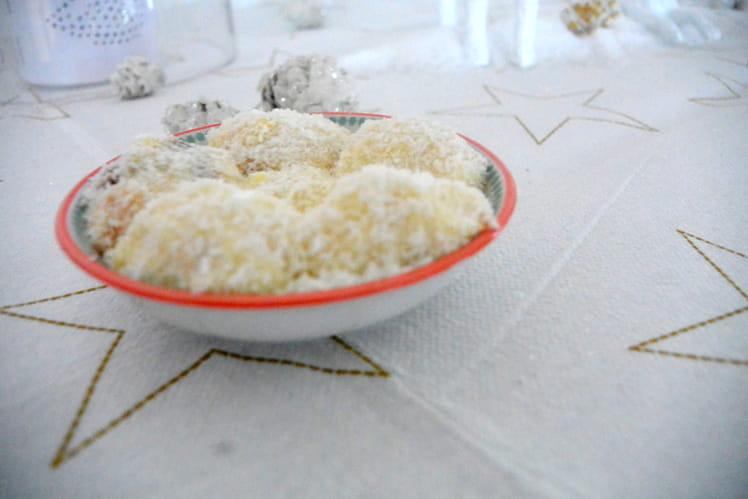Truffes blanches au coeur croustillant