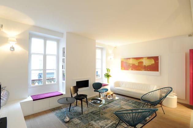 Appartement à la déco douce et intemporelle salon