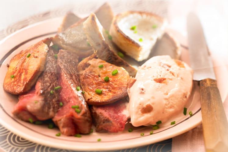 Eminc de boeuf au foie gras et glace marron - Cuisiner le foie de boeuf ...