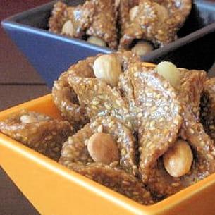 babouches aux sésame et miel