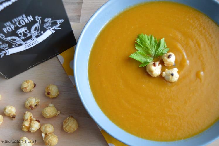 Soupe de légumes et ses pop corns au poivre de Sichuan