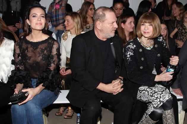 Mandy Moore, Harvey Weinstein et Anna Wintour